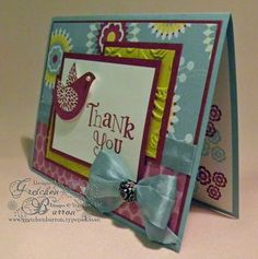 Wowza card....lots of layers, think this will be my next thank you card!