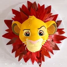 This is a perfect idea for your little one s birthday party Credit koalipops simba lionking cake koalipops metdaancakes Lion King Party, Lion King Birthday, Cake Decorating Techniques, Cake Decorating Tutorials, Cute Cakes, Yummy Cakes, Fondant Cakes, Cupcake Cakes, Lion King Cakes