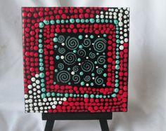 Auténtico arte aborigen de punto acrílico por RaechelSaunders