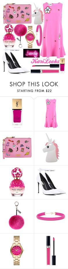 """""""Barbie"""" by karilooks ❤ liked on Polyvore featuring Yves Saint Laurent, Moschino, Miss Selfridge, Marc Jacobs, Balenciaga, Helen Moore, Kenneth Jay Lane, Michael Kors and Christian Dior"""