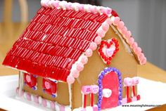 Valentine's Gingerbread House - Who says gingerbread houses only have to come once a year? Buy up a few on clearance for other holidays.