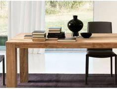 STRANDGUT07 finitura grey wash Tavolino in legno di teak circa 50 x 80 x 45 cm