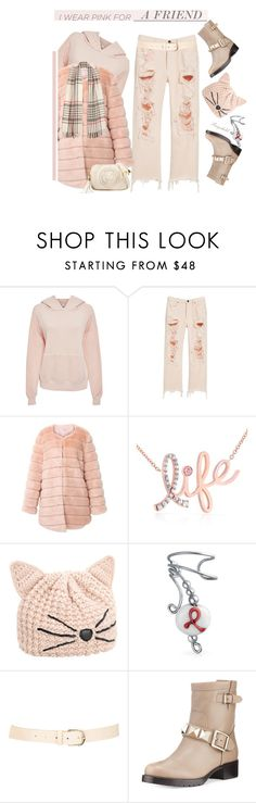 """""""Wear Pink in October"""" by ragnh-mjos ❤ liked on Polyvore featuring Bliss and Mischief, Alexander Wang, storets, Kobelli, Karl Lagerfeld, Bling Jewelry, Maison Boinet and RED Valentino"""