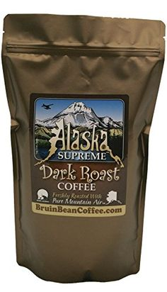 Alaska Supreme Coffee TM, WHOLE BEAN, Freshly Roasted in Alaska with Pure Mountain Air TM - Specialty, Rich, Dark Blend