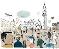 Travel illustration by Martin Haake - Venice