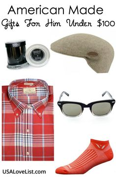 American Made Gifts For Him Under $100 via USALoveList.com