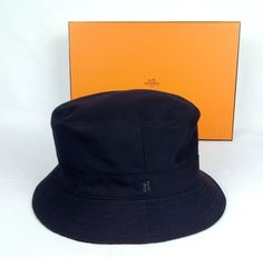 100% Authentic HERMES Bucket Hat Cashmere Lined MINT #HERMES #BucketHat