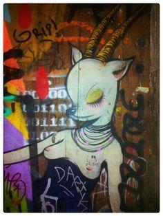 Street art. Born. Barcelona. Maudéa