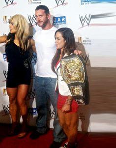 Kaitlyn, CM Punk, AJ