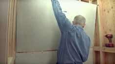 In this video, learn eight steps to install concrete-core backerboard and fiber-cement backerboard. There are two common types of tile backerboard, concrete core and fiber cement — installation is the same for both. Concrete, Cement, Guest Bath, Decorating On A Budget, Diy Organization, Old Houses, Building A House, Home Improvement, Bathroom Updates