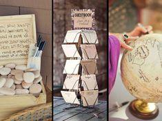 Je veux un livre d'or de mariage original: 40 idées repérées sur Pinterest Tour, Wedding Gold, Quirky Wedding, Urn