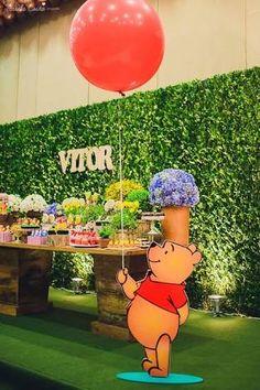 Winnie The Pooh Themes, Winnie The Pooh Cake, Winnie The Pooh Birthday, Baby Boy 1st Birthday, Baby Shower Parties, Baby Shower Themes, Baby Boy Shower, Baby Shower Gender Reveal, Birthday Party Decorations