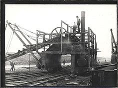 A German land excavator under construction