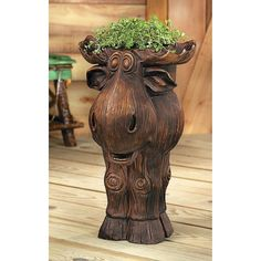 I need a Moose Planter - OrientalTrading.com - I'd get a small one for the office