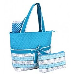 Boho Elephant 3pc Diaper Bag Set