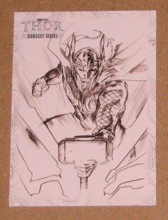 Thor Movie (Upper Deck 2011) Concept Series Card C4 EX