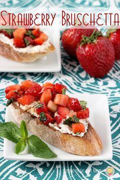Strawberry Bruschetta | Cooking on the Front Burner #strawberrybruschetta #appetizer