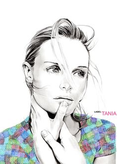Tania Label Fashion Illustrations #eyesup #thoughtful #favorite