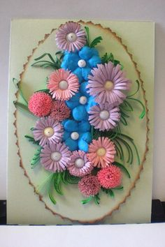 : A lot of different cards 3d Paper Flowers, Quilling, Blog, Cards, Patterns, Bedspreads, Block Prints, Blogging, Maps
