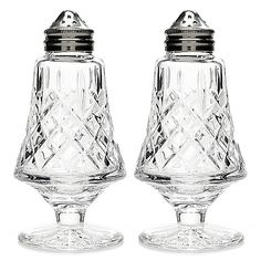 Passing the salt has never felt so elegant! This pair of salt and pepper shakers from Waterford Crystal are sure to season your meals with a healthy dose of Waterford City, Waterford Crystal, Contemporary Tabletop, American Baby Doll, Salt Cellars, Ancient Vikings, Salt And Pepper Set, Mason Jar Wine Glass, Salt Pepper Shakers