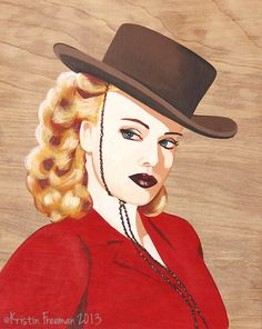 Original Painting – Cowgirl by Kristin Freeman