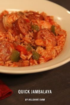Quick Jambalaya This quick and easy recipe will fill up your family with delicious jambalaya flavors without spending hours in the kitchen. Start to Finish: 40 Minutes Ingredients: 1(14oz) package...