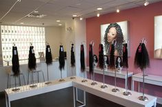 Let's take pride in our Black Girl Hair stores., Let's take pride in our Black Girl Hair stores. Let's take pride in our Black Girl Hair stores. Let's take pride in our Black Girl Hair stores. Black And White Wig, Black Wig, Long Black, Hair Salon Interior, Salon Interior Design, Salon Design, Red Ombre, Afro, Wholesale Human Hair