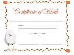 Printable blank baby birth certificate template download snicker a birth certificate refers to a document or rather a certificate that is normally filed with the relevant authorities after the birth of a child altavistaventures Images