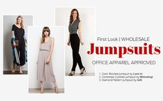 Help your customers look professional, feminine and chic with the perfect jumpsuits wholesale styles available at LA Showroom! Shop office-friendly apparel.