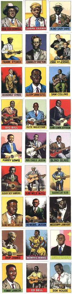 Blues heroes by Robert Crumb