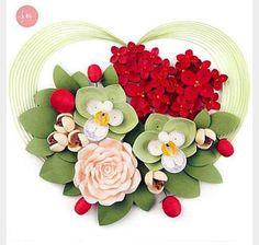 Quilled Heart Bouquet-Net - Unknown Artist