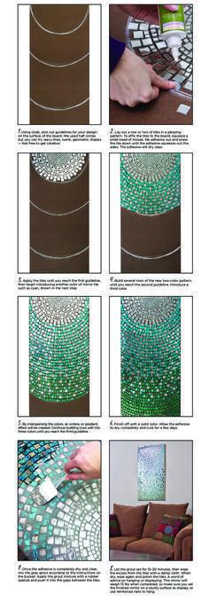 Mosaikbild (Spiegelfliesen)