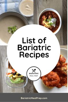 Bariatric Recipes - Bariatric Meal Prep - The Best Easy Healthy Recipes Weight Loss Meals, Bariatric Eating, Bariatric Recipes, Bariatric Surgery, Pureed Food Recipes, Diet Recipes, Healthy Recipes, Diet Tips, Healthy Meals