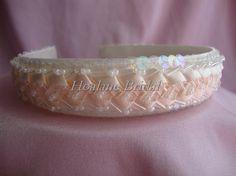 Headband ribbon/sequin headband by Hoalanebridal on Etsy #weddings #brides #prom