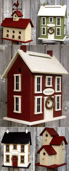 need paint ideas for bird houses. like these
