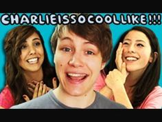 TEENS REACT TO CHARLIEISSOCOOLLIKE// um....i may or may not be like pink girl, b/c i'm a sucker for accents.