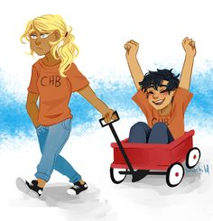 If you guys thought my first Percabeth drawing was gonna be serious you would be gravely mistaken