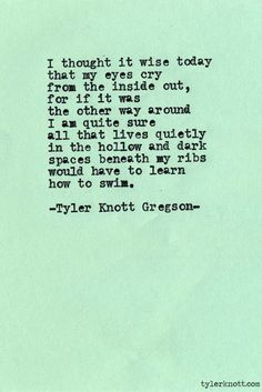 Typewriter Series #418 by Tyler Knott Gregson #poetry #tylerknott. I love this. So so pretty.