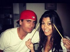Kourtney Kardashian - Scott and I Back in the Day Instagram