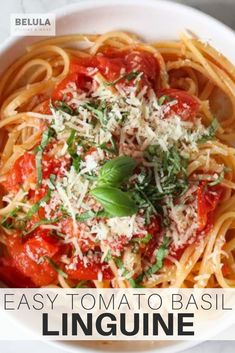 """This pasta dish is so easy to make, and so tasty, and delicious, you won't believe it. And it only has like four ingredients. Yes. Four. Wow. I know. Plus, this dinner is made using pantry staples, It is kind of perfect. And you can make it in 20 minutes. I personally enjoy making it, but most off all I love eating it! And it has never failed me. Never. I've made many very happy with my """"Linguine Pomodoro Basilico"""". #FourIngredientDinner #LinguineRecipe #20MinuteDinner #CookwithBelula Best Dinner Recipes, Brunch Recipes, Cherry Tomato Pasta, Vegetable Casserole, Dinner Entrees, Easy Pasta Recipes, Homemade Pasta, Linguine, Pasta Dishes"""