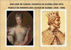 QUADRO DE ADELAIDE DE SABOIA- DUQUESA DA SUÁBIA E HUDOLF DE RHAINFELDEN