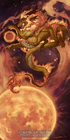 2018 The Fire Lion Zodiac Dragon Leo by The-SixthLeafClover.deviantart.com on @DeviantArt