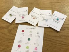 Wanderlust Life birthstone necklaces in store at Wishlist Truro and available online from our website www.illustratedliving.co.uk Sapphire Birthstone, Birthstone Necklace, Pink October, Truro, Birthstones, Wanderlust, Necklaces, Jewellery, Website