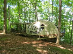 Abandoned Dome Camping Cabin, rural Indiana.