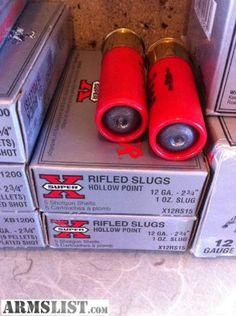 12 Gauge Hollow Point Rifle Slugs FTW!