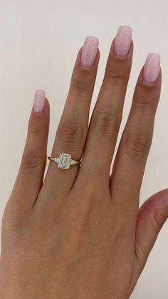 Round Solitaire Rings, Emerald Cut Rings, Emerald Diamond, Diamond Rings, Three Stone Engagement Rings, Three Stone Rings, Diamond Engagement Rings, Neck Rings, Thing 1