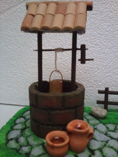 Porexpan well for nativity scenes or cribs - Step by step Christmas Crib Ideas, Christmas Decorations, Paper Crafts, Diy Crafts, Wishing Well, Miniature Houses, Science For Kids, Garden Crafts, Diy Tutorial