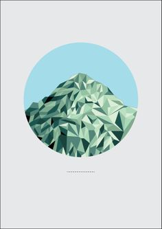 This is a piece i created in my spare time. It was my first attempt at geometric design. Minimal, geometric, mountain. Kieran Bhate