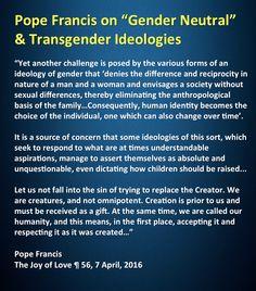 Pope Francis on gender neutrality and transgenderism Catholic Gentleman, American Catholic, Animal Sayings, Catholic Religion, Divine Mercy, Catechism, Pope Francis, 2 Ingredients, Roman Catholic