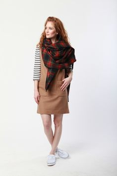Blanket Scarf in Stewart Plaid Preppy Outfits, Cool Outfits, Winter Outfits, Summer Outfits, Prep Style, My Style, Modest Dresses, Modest Clothing, Outfit Combinations